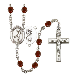 R6000 Series Rosary<br>St. Christopher/Figure Skating<br>Available in 12 Colors