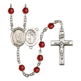 R6000 Series Rosary<br>St. Sebastian/Gymnastics<br>Available in 12 Colors