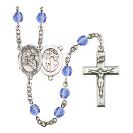 R6000 Series Rosary<br>St. Sebastian / Motorcycle<br>Available in 12 Colors
