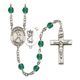 R6000 Series Rosary<br>St. Christopher/Football<br>Available in 12 Colors