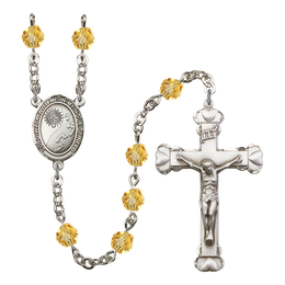 R6001 Series Rosary<br>Footprints / Cross<br>Available in 12 Colors