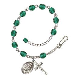 RB6000 Series Rosary Bracelet<br>St. Dominic de Guzman<br>Available in 12 Colors