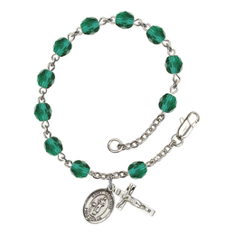 RB6000 Series Rosary Bracelet<br>St. Genesius of Rome<br>Available in 12 Colors