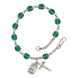 RB6000 Series Rosary Bracelet<br>St. Gerard Majella<br>Available in 12 Colors