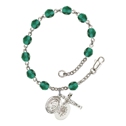 RB6000 Series Rosary Bracelet<br>Miraculous<br>Available in 12 Colors