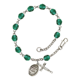 RB6000 Series Rosary Bracelet<br>Sts. Cosmas & Damian<br>Available in 12 Colors