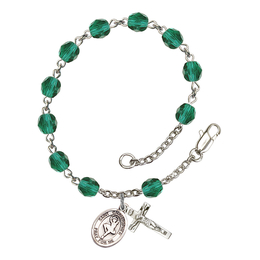 RB6000 Series Rosary Bracelet<br>St. Christopher/Dance<br>Available in 12 Colors