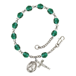 RB6000 Series Rosary Bracelet<br>St. Christopher/Baseball<br>Available in 12 Colors