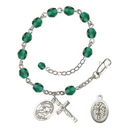 RB6000 Series Rosary Bracelet<br>St. Sebastian/Soccer<br>Available in 12 Colors