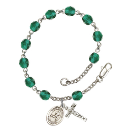 RB6000 Series Rosary Bracelet<br>St. Sebastian/Track & Field<br>Available in 12 Colors