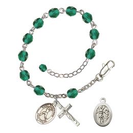 RB6000 Series Rosary Bracelet<br>St. Sebastian/Softball<br>Available in 12 Colors