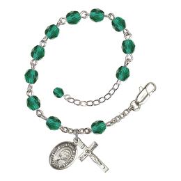 RB6000 Series Rosary Bracelet<br>St. John Baptist de la Salle<br>Available in 12 Colors