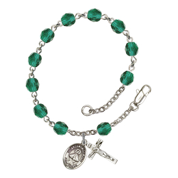 RB6000 Series Rosary Bracelet<br>O/L of San Juan<br>Available in 12 Colors