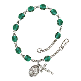 RB6000 Series Rosary Bracelet<br>St. Bernard of Montjoux<br>Available in 12 Colors