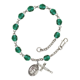 RB6000 Series Rosary Bracelet<br>St. Aedan of Ferns<br>Available in 12 Colors