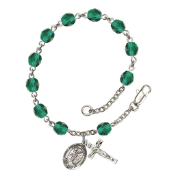 RB6000 Series Rosary Bracelet<br>St. Fiacre<br>Available in 12 Colors