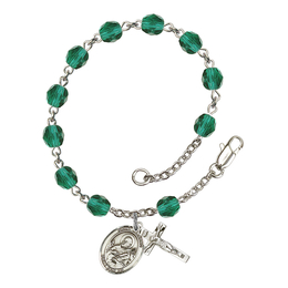 RB6000 Series Rosary Bracelet<br>St. Meinrad of Einsiedeln<br>Available in 12 Colors