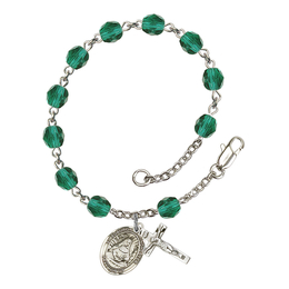 RB6000 Series Rosary Bracelet<br>St. Edburga of Winchester<br>Available in 12 Colors