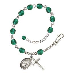 RB6000 Series Rosary Bracelet<br>St. Louis Marie de Montfort<br>Available in 12 Colors