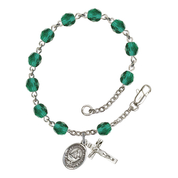 RB6000 Series Rosary Bracelet<br>St. Catherine of Sweden<br>Available in 12 Colors