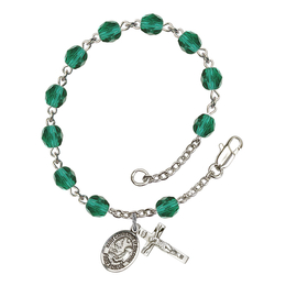 RB6000 Series Rosary Bracelet<br>St. Catherine of Bologna<br>Available in 12 Colors