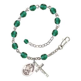 RB6000 Series Rosary Bracelet<br>St. Eustachius<br>Available in 12 Colors