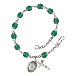 RB6000 Series Rosary Bracelet<br>St. Josephine Bakhita<br>Available in 12 Colors
