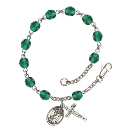 RB6000 Series Rosary Bracelet<br>St. Rocco<br>Available in 12 Colors
