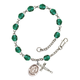 RB6000 Series Rosary Bracelet<br>St. Bernadine of Sienna<br>Available in 12 Colors