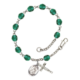 RB6000 Series Rosary Bracelet<br>St. Lucy<br>Available in 12 Colors