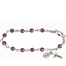 RBI0004 Series Infant Rosary Bracelet<br>Available in 15 bead colors