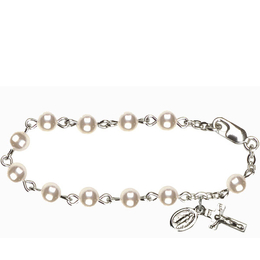 RBI0297 Series Infant Rosary Bracelet