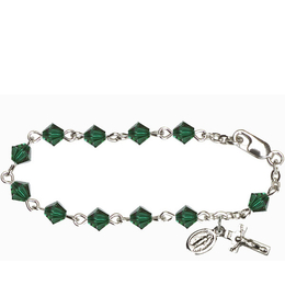 RBI9550 Series Infant Rosary Bracelet<br>Available in 12 bead colors