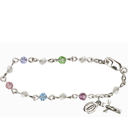 RBI9574 Series Infant Rosary Bracelet<br>Available in 16 bead colors